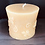 "Thumbnail: Short Bee Pillar 3"" Tall, 100% Pure Natural Yellow Beeswax , Long Burning, Honey"