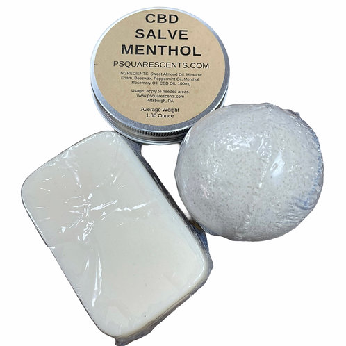 CBD Salve, Bath bomb, or Soap