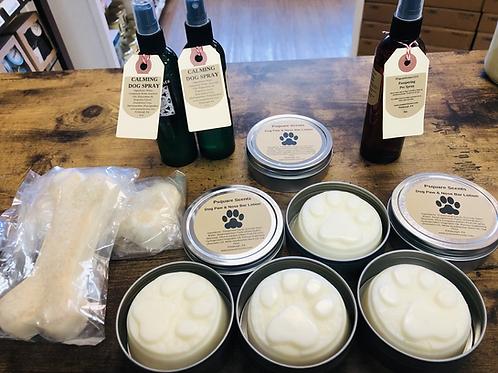 Dog Lotion - Dog Calming Spray - Deodoring Cologne -  Shampoo Bar -Gift Set