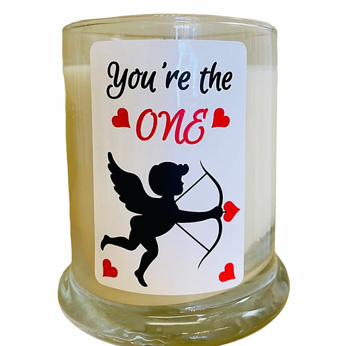 """You're the One"" Valentine Candle"