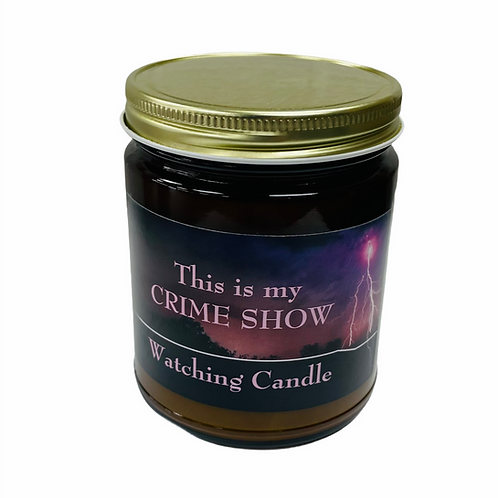 This is my CRIME SHOW Watching Candle