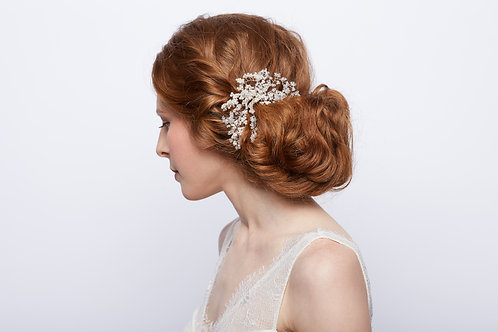 Pearl and Crystal Baby's Breath Comb