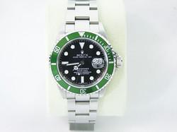 時計_ロレ 緑サブ