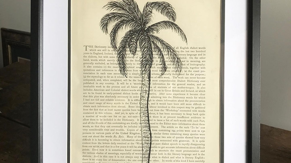 """Solo Palm Tree"" Original Hand Drawing"