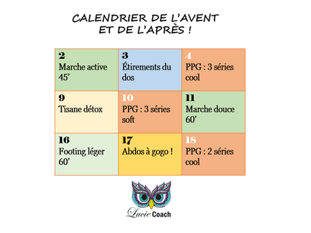 Votre calendrier de l'Avent et de l'Après !