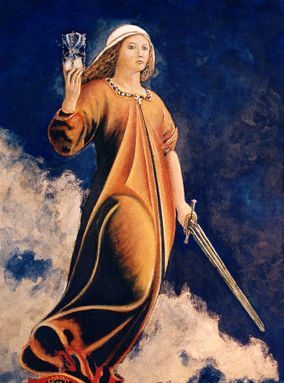 "24""x30"" Painted portrait of Nemesis. Ancient Greek Goddess"