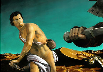 Thumbnail David and Goliath painting