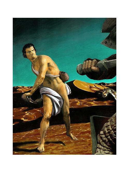 David and Goliath Print