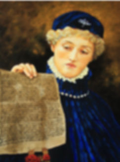 "20""x24 portrait of Portia holding letter of the law during shakespearean play The Merchant of Venice"