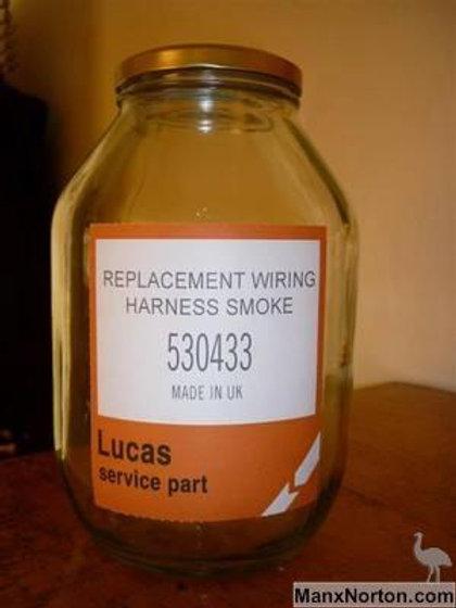 Genuine Lucas wiring harness smoke.