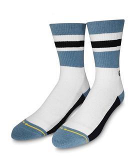 Merge4 Haven White Classic Crew Socks