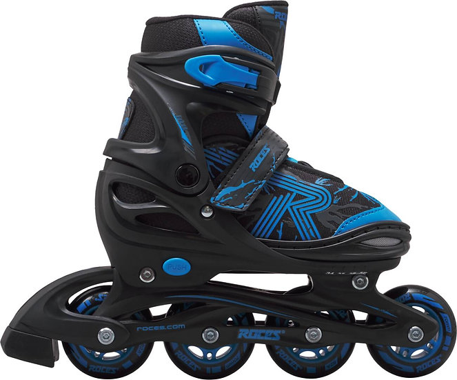 Roces Jokey 3.0 Kids Inline Skates (Black/Astro Blue - 34-37)