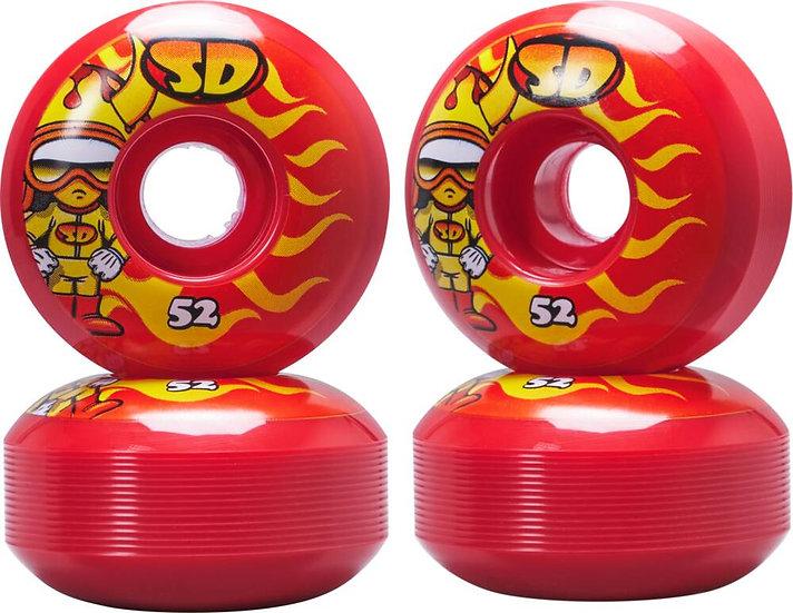 Speed Demons Characters Skateboard Wheels 4... (52mm - Hot Shot)