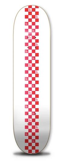 Heart Supply Checkerboard 8.25 Deck - White/Red