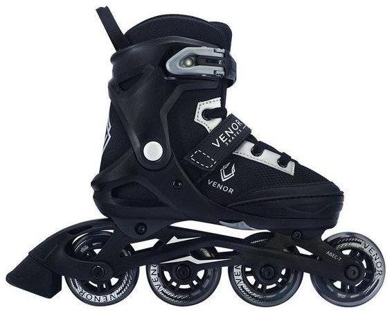 Venor Invicta Kids Inline Skates (Black/Silver - 32-35)
