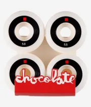 CHOCOLATE LOST CHUNK CONICAL WHEELS (WHITE BLACK) 53MM 99A 4 PACK