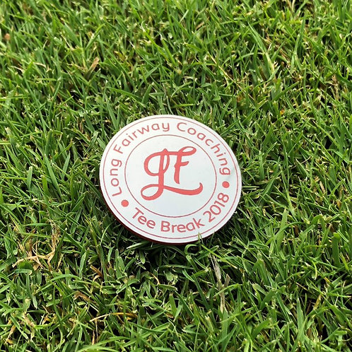 "Marque balle Long Fairway Coaching ""Tee break 2018 """