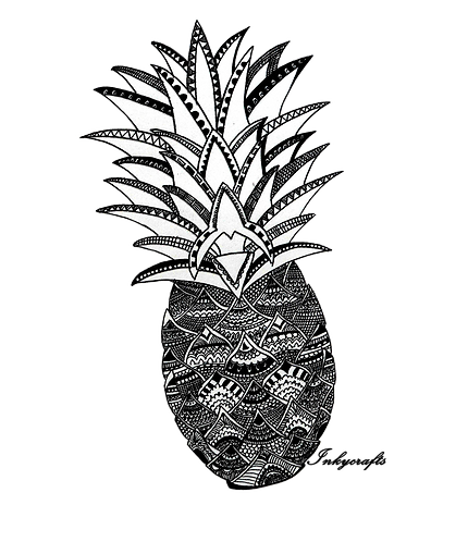 Pineapple Sketch | Customization Available