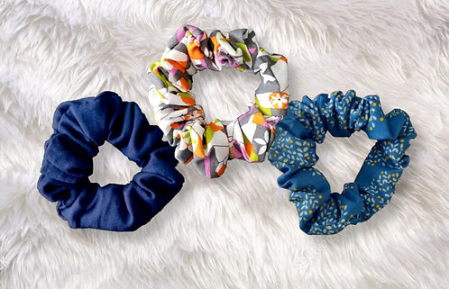 Assorted Scrunchie Collection - Set of 3