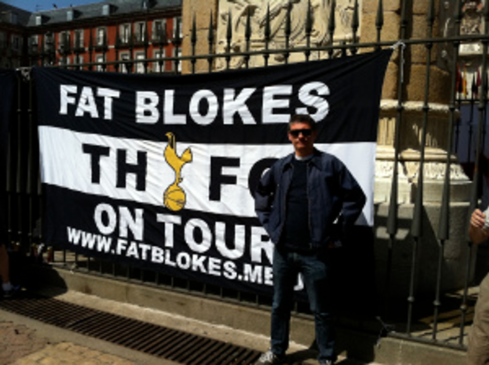 Fat Blokes on Tour THFC flag