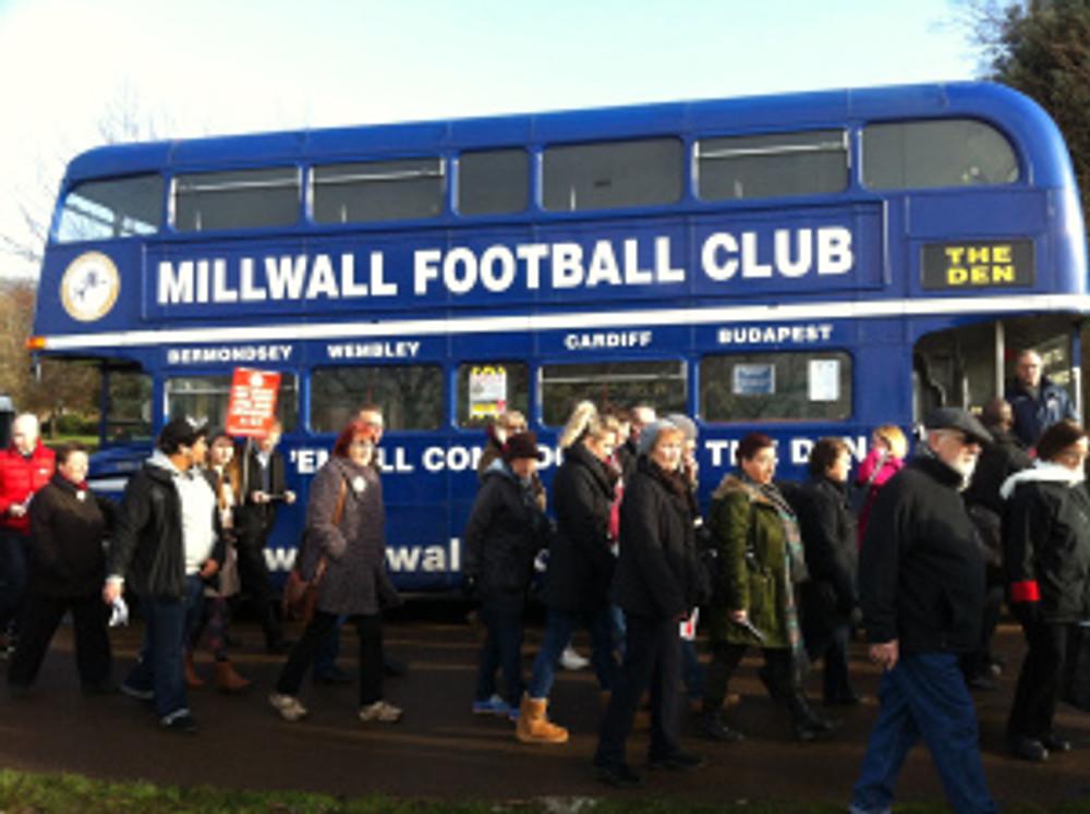 Millwall FC bus
