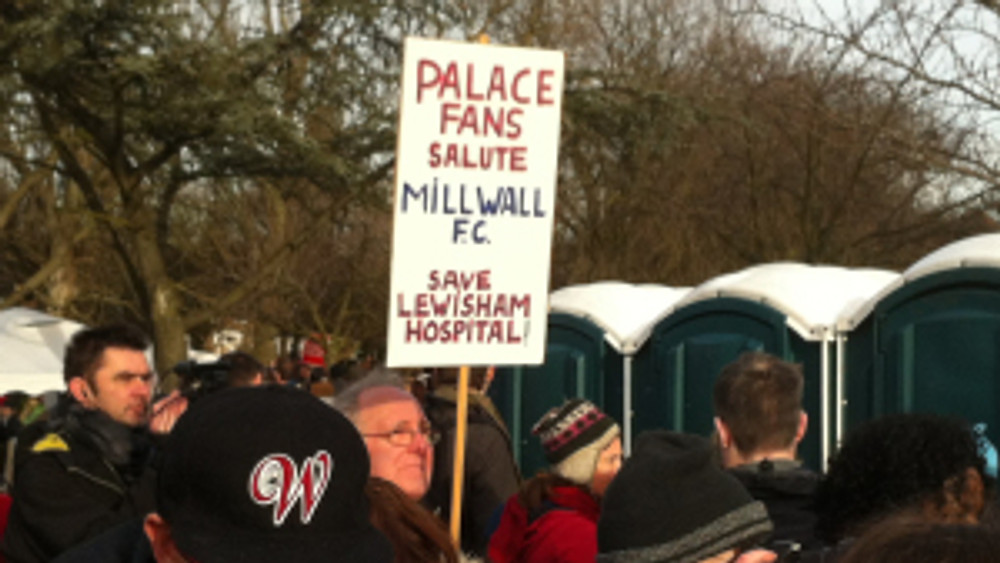 Palace fans back the campaign