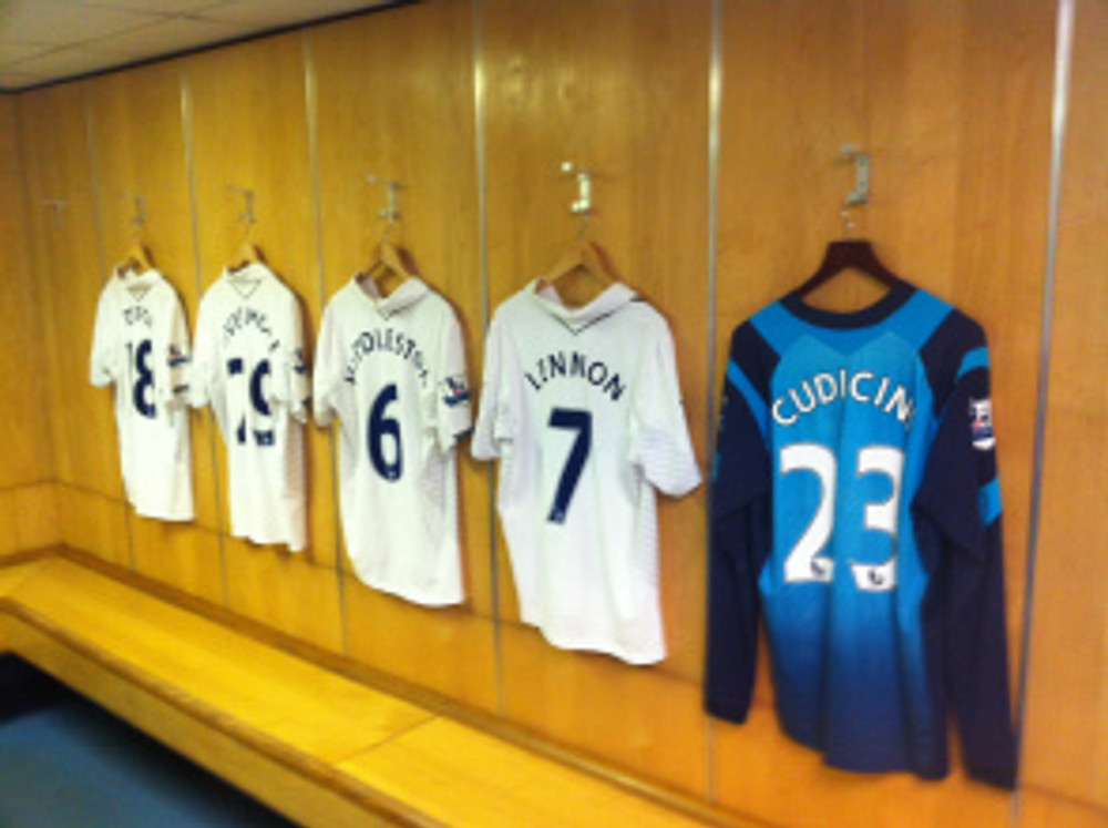 Spurs changing room