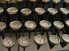 Retro typewriter keys