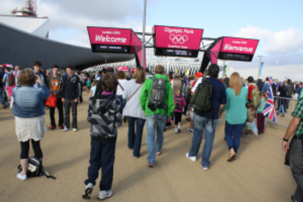 Entering the Olympic Park, London 2012