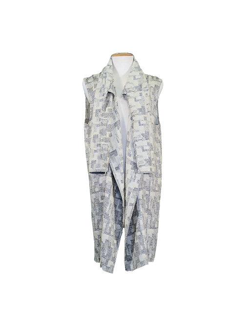 Summer Vest Boucle B&W