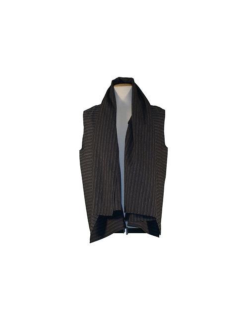 Summer Vest Gray Stripes