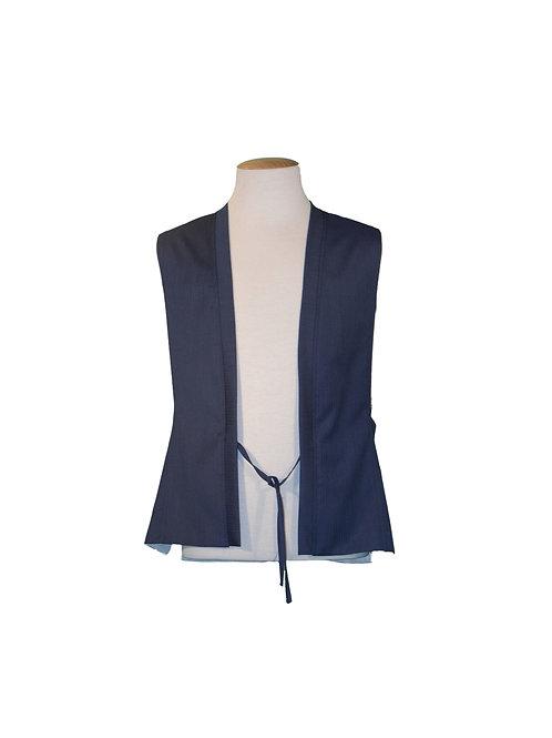 Gilet Harringbone Blu