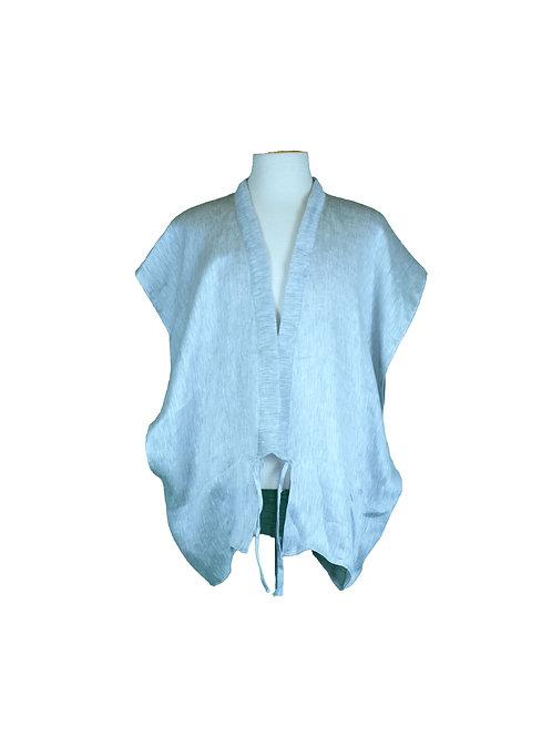 kaftan vest in light  linen
