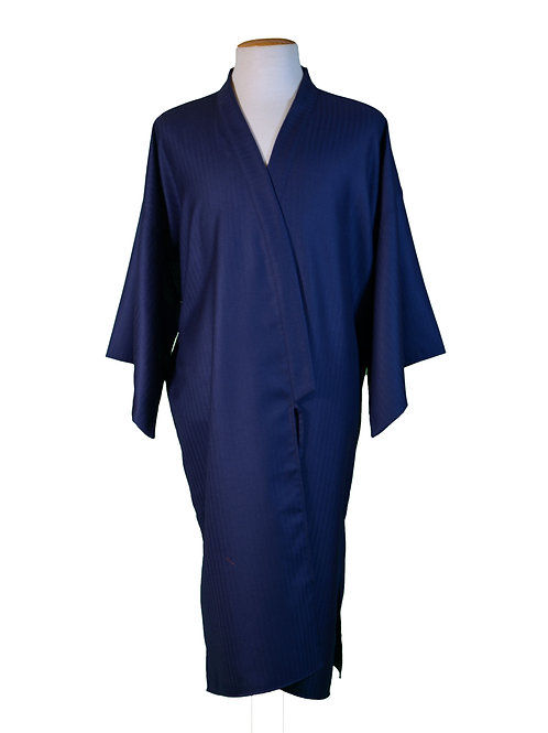 Kimono Aori blue herringbone