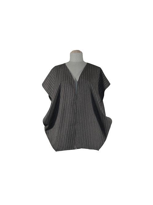 Kaftan vest Gray black