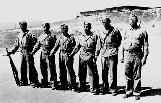 Navajo Code Talkers at Camp Elliot, California