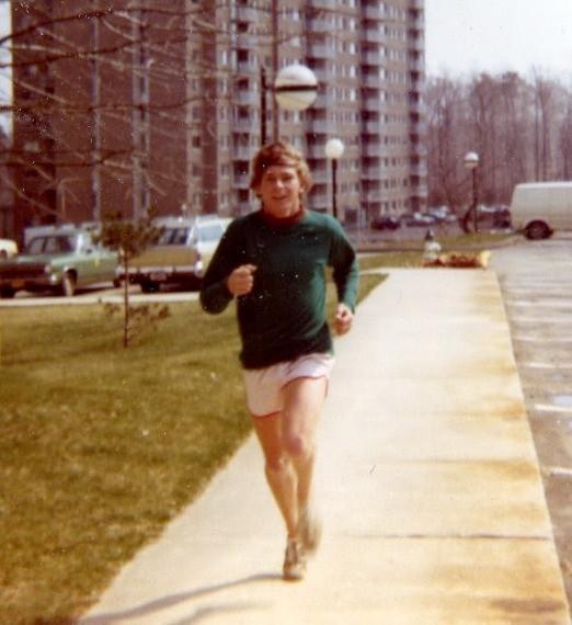 David Crow running at the University of Maryland