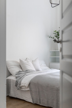 Stailattu makuuhuone