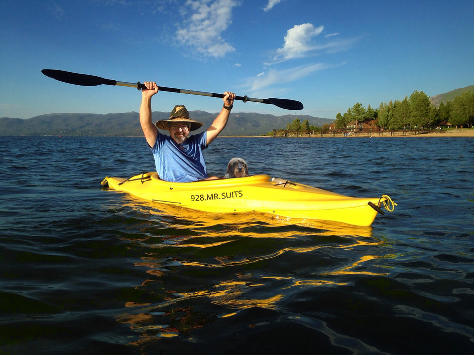 Award Winning Attorney in Prescott AZ, Suits Law Firm, 928.Mr.Suits, Kayaking at Watson Lake, Granite Dells, Willow Lake in beautiful Prescott Weather.