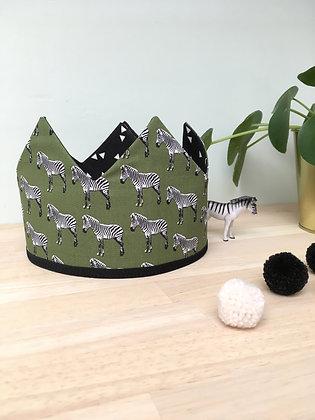 Kroon khaki zebra/zwart driehoek