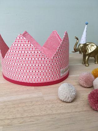 Kroon roze klaver/roze patroon