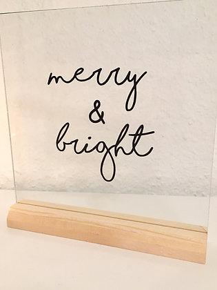 Kerstdeco merry & bright
