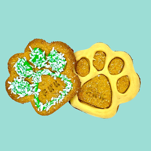 Carrot and Peanut Butter Paw Crackers