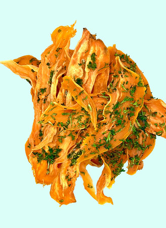 Dehydrated Sweet Potato and Parsley Chews