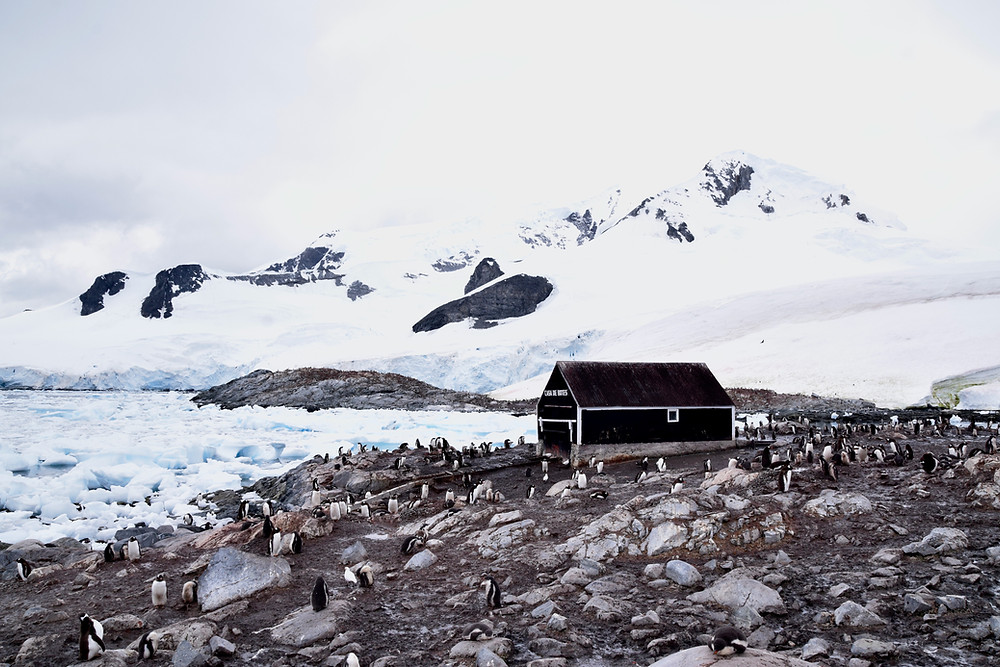 Gonzales Videla Antarctic base in Paradise Bay