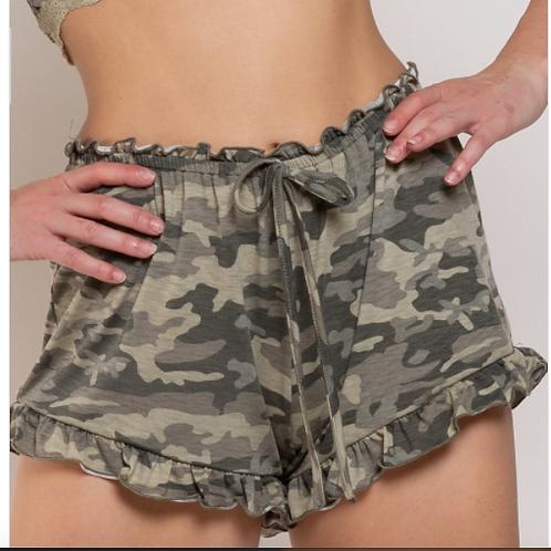 Cozy Cozy Camo Lounge Shorts