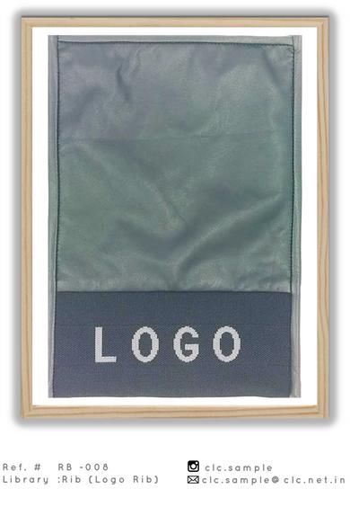 jacquard custom logo rib