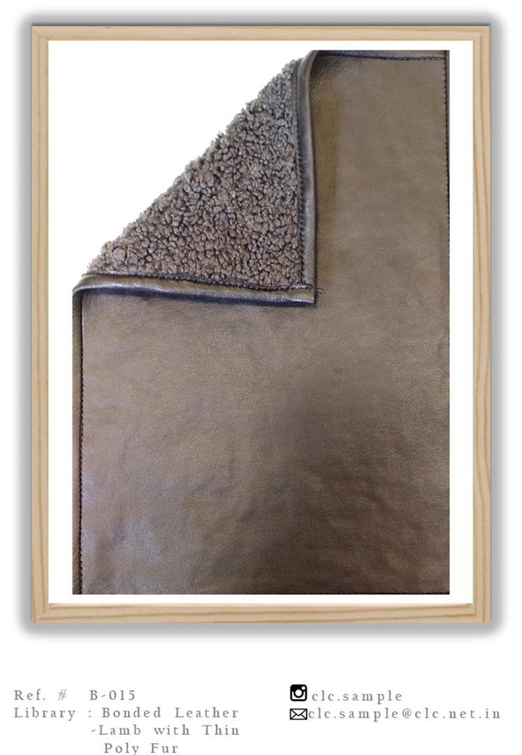 Bonded Leather Faux Fur