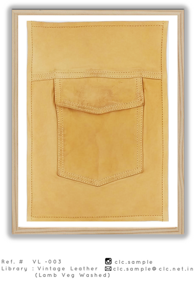 vintage washed and treated leather