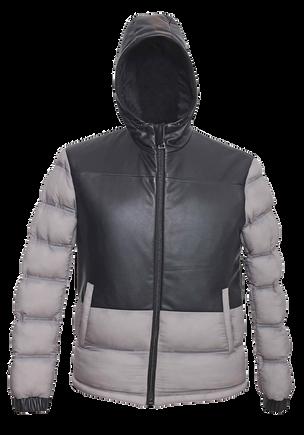 Nylon Leather Mixed Jacket